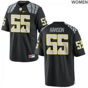 Ducks High School Jerseys of Jake Hanson Women Black Limited