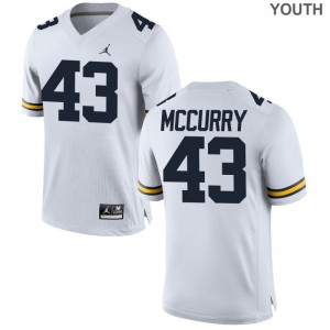University of Michigan Jake McCurry Game Jerseys Jordan White Youth(Kids)