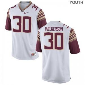 Seminoles Kids White Limited Jalen Wilkerson Jersey