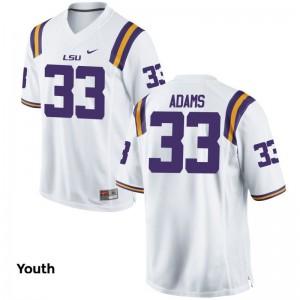 LSU Tigers Jamal Adams Youth(Kids) White Game NCAA Jerseys
