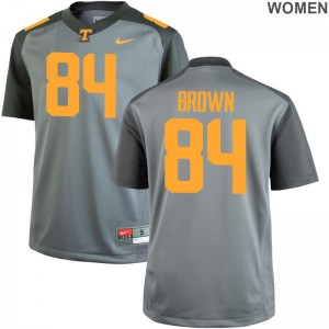 Tennessee Volunteers Jersey of James Brown Game Womens Gray