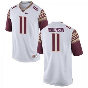FSU Seminoles Janarius Robinson Jerseys White Limited Mens