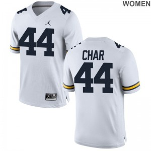 Jared Char Womens Jerseys S-2XL Michigan Wolverines Jordan White Game
