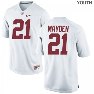 University of Alabama Jared Mayden Jerseys S-XL White For Kids Limited