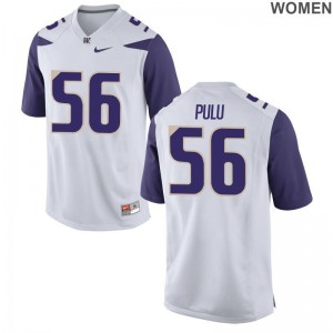 Ladies White Game Washington Huskies Jerseys of Jared Pulu