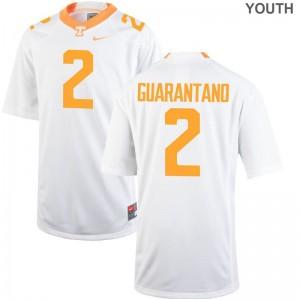 Jarrett Guarantano Youth Football Jersey Tennessee Vols Game - White