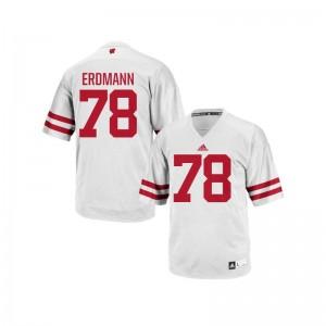 Replica White Mens Wisconsin Player Jersey Jason Erdmann