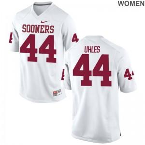 White For Women Game OU Football Jersey Jaxon Uhles