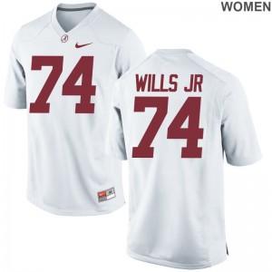 University of Alabama NCAA Jersey of Jedrick Wills Jr. Game Women White
