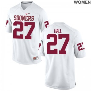 OU Sooners Jersey S-2XL of Jeremiah Hall Womens Game - White