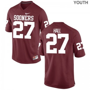 Jeremiah Hall Oklahoma Sooners Player Jersey Youth Game Crimson {Jersey