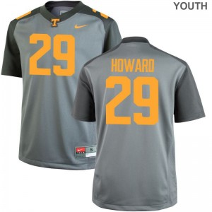 UT Jeremiah Howard College Jersey Limited Gray For Kids