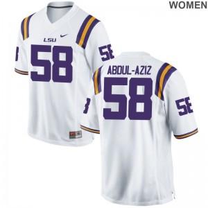 Jibrail Abdul-Aziz Jerseys LSU White Limited For Women Football Jerseys