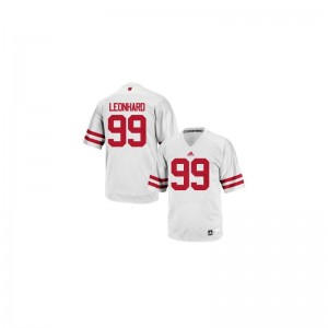 White Jim Leonhard Jerseys Wisconsin Badgers Authentic Youth(Kids)