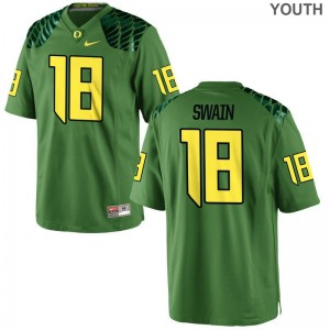 Jimmie Swain Youth Jersey S-XL Apple Green Oregon Ducks Game