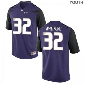 Washington Joel Whitford For Kids Game Jersey Purple