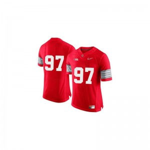 Red Diamond Quest Patch Joey Bosa Jersey S-3XL Ohio State Buckeyes Game Men