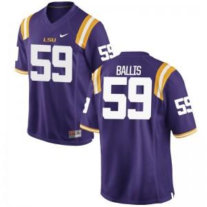 LSU John Ballis Youth Purple Game College Jerseys