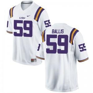 LSU John Ballis College Jersey For Kids Limited - White