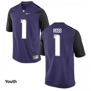 John Ross Game Jerseys Kids NCAA University of Washington Purple Jerseys