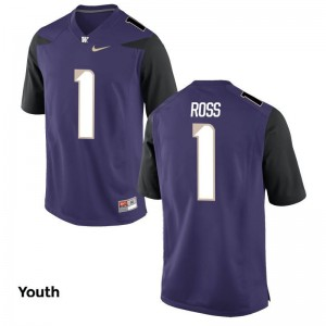 John Ross Washington Huskies Player Jersey Limited For Kids Purple