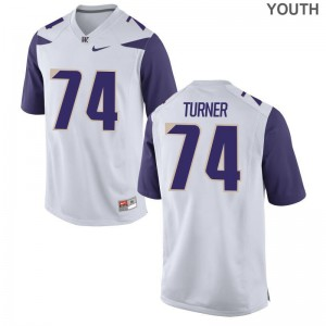 Washington Huskies John Turner Youth White Game College Jersey