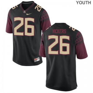 Florida State Johnathan Vickers Jerseys S-XL Black For Kids Game