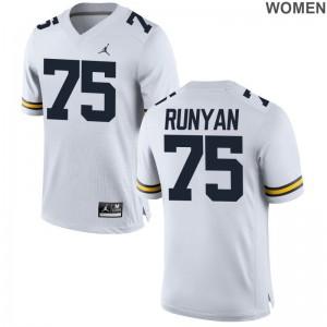 Jon Runyan Wolverines High School Jerseys Game Jordan White For Women