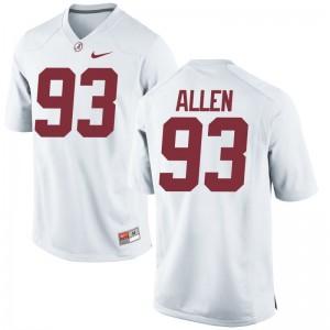 Alabama Jonathan Allen Game For Women White Jerseys