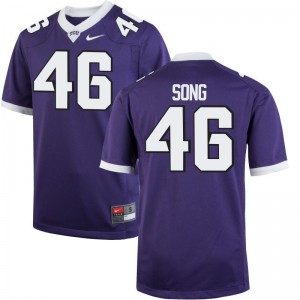 Horned Frogs Jersey Jonathan Song For Men Purple Limited