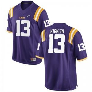 LSU Jontre Kirklin Game For Men Purple Jersey