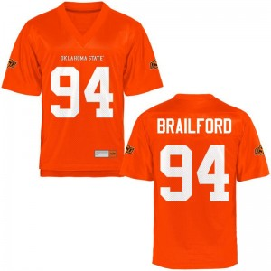 OSU Cowboys Jordan Brailford Jerseys S-3XL Men Orange Game