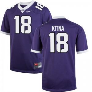 Jordan Kitna TCU Horned Frogs NCAA Jerseys Limited For Men Jerseys - Purple