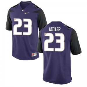 Jordan Miller NCAA Jerseys For Men UW Huskies Purple Game