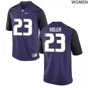 UW Jordan Miller Jersey Purple Game Ladies
