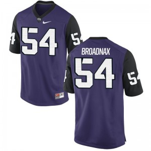 Joseph Broadnax Mens Purple Black High School Jersey Game Texas Christian University