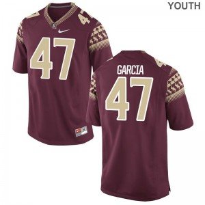 For Kids Limited Garnet FSU Seminoles Football Jerseys of Joseph Garcia