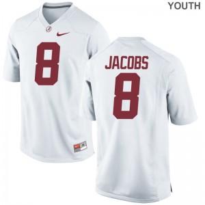 Alabama Crimson Tide Josh Jacobs NCAA Jersey Limited White Kids Jersey