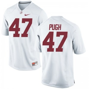 Game White Josh Pugh High School Jerseys Youth(Kids) Bama