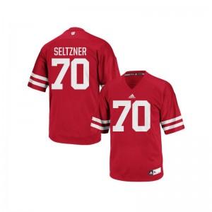 Wisconsin Badgers Josh Seltzner Authentic Jersey Red Men