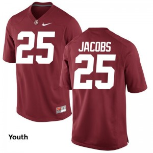 Bama Joshua Jacobs Limited Kids College Jersey - Red