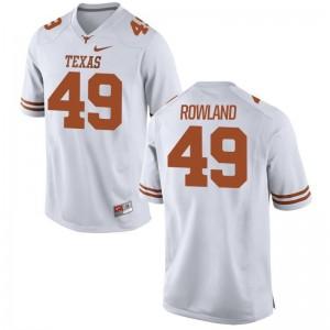 Joshua Rowland Texas Longhorns Jerseys S-3XL White For Men Game