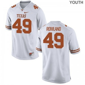 Longhorns Youth(Kids) White Limited Joshua Rowland Jersey S-XL