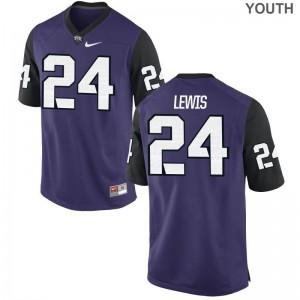 Texas Christian University Julius Lewis Game Youth Jersey - Purple Black
