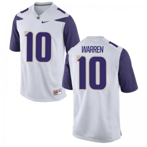 UW Huskies Jusstis Warren Jersey Game Men White Jersey