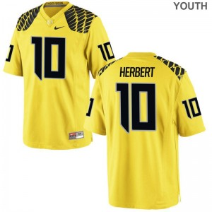 Youth Justin Herbert Jerseys UO Game Gold