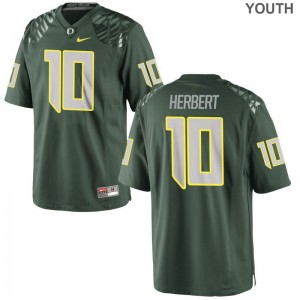 Green Justin Herbert Jersey S-XL Ducks Youth Game