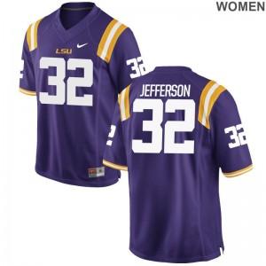 Louisiana State Tigers Justin Jefferson College Jerseys Limited Womens Purple
