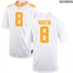 Tennessee Volunteers Justin Martin Womens Game White Jersey