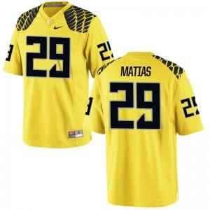 Justin Matias Jerseys S-2XL Ladies Oregon Gold Limited